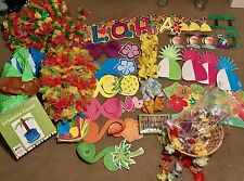 Luau Hawaiian Party Decor Lot Over 60 Items Plus Inflate Palm Cooler More Leigh
