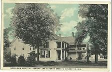 Woodlawn Hospital Pontiac Seventh Rochester IN Indiana Postcard
