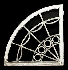 Reclaimed Fan Shaped White Wood Window