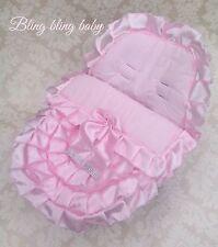Bebé Universal Asiento de Coche Cubierta, Revestimiento, acogedor Toes volantes Romaní Bling volantes