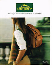 PUBLICITE ADVERTISING 035  1994  LONGCHAMP  maroquinerie sac COUNTRY