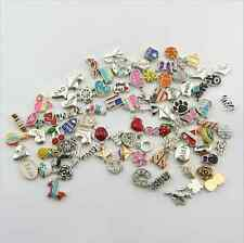 Wholesales 30pcs Mix Style Cute Silver Charms for Living Floating Memory Lockets