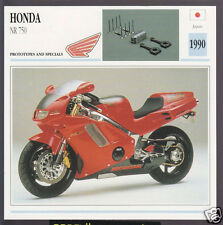 1990 Honda NR 750cc (748cc) Superbike Japan Prototype Motorcycle Photo Spec Card