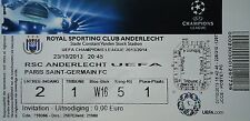 TICKET UEFA CL 2013/14 RSC Anderlecht - Paris SG