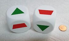 KOPLOW JUMBO 50mm FOAM DICE- SHAPES (SERIES #2)  - ONE PAIR/SIX SHAPES 20% OFF!