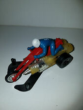 Vintage Hot Wheels Chopcycles 1971 Mattel Red with Blue Rider