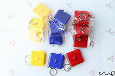 NEW 12 x Retractable Pocket Sewing Tape Measure Key Ring 150cm [Only Metric] VAT