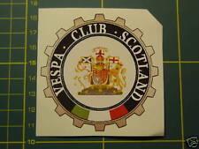SCOTLAND  VESPA CLUB  Sticker PIAGGIO GS,PX,GL,GT,LML
