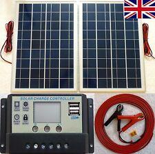 25w x 2 (50w) pannello solare + LCD 10a 12v 24v caricabatteria auto 2 x 5v USB Cavo +12m