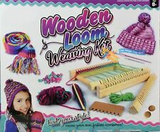 BEGINNERS STARTER WOODEN WEAVING LOOM WITH WOOL SHUTTLES & FULL INSTRUCTIONS NEW