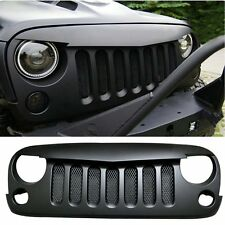 07-16 Front Angry Birds Grille Grid Grill with Mesh Inserts For Jeep JK Wrangler