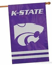 Kansas State Wildcats 2-sided 28x44 Embroidered Applique Banner Flag University