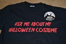 """Halloween FLIP UP MASK T-Shirt """"Ask me about my Halloween Costume"""" Horror Tee"""