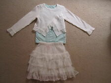 Boutique White Jottum 116 Top Mim Pi 110 Skirt Esprit 6 Bead Top  Easter Set EUC
