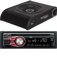 "Vibe Optisound8 8"" Amplified Subwoofer and JVC KD-R331 Car CD Player MP3 Aux"