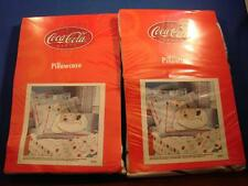 Pair of Coca Cola Polar Bear Standard Pillow Cases BRAND NEW SEALED 20 x 30