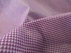"""Purple Square Checked/Check 100% Cotton Fabric. 58"""" Wide."""