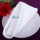 12pcs White Premium Wedding Restaurant Dinner Party Cloth Linen Napkins 48*48cm