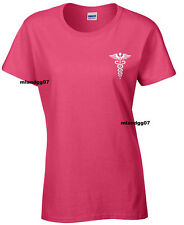 Adult Sizes Womens T-Shirt Nurse Medical Service Women Shirt SIZES S-XL