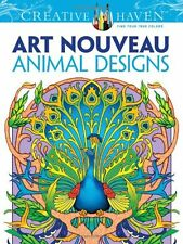 Relax Graphics Art Creative Haven Nouveau Animal Designs Coloring Book Adult Kid