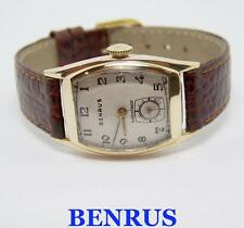 Vintage BENRUS Goldfilled Mens Winding Watch c.1940s Cal AR1* Good Cond SERVICED