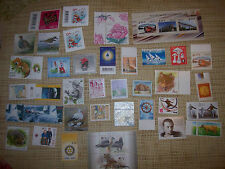 45 (RECENT YEARS) MINT ESTONIA POSTAGE STAMPS AND TWO USED STAMPED ENVELOPS