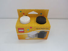 Lego Kitchen Bar Salt & Pepper Shaker Brick Lot Set Black White Home Collectible