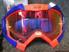 X-FUN Turbine motocross mx adult Goggles red/blue with mirrored lens GOG008