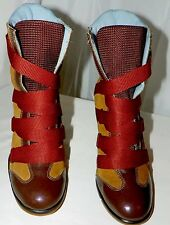 DOLL HOUSE 5678 FASHION BOOTS LEATHER SIZE 8