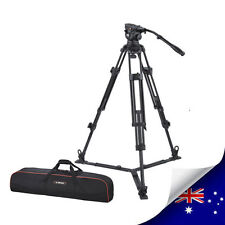 PROFESSIONAL VIDEO TRIPOD WITH FLUID DRAG HEAD WITH SPREADER EI7080AA - NEW