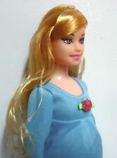 BARBIE PREGNANT EDUCATIONAL DOLL BLUE MATERNITY DRESS AND BABY IN MOMS TUMMY