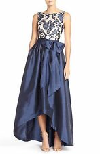 Adrianna Papell Embroidered Lace & Taffeta Ballgown (size 6)
