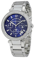 Michael Kors MK6117 Parker Navy Dial Stainless Steel Chronograph Women's Watch