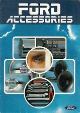 ACCESSORI FORD 1982-83 mercato britannico opuscolo Fiesta Escort Sierra Capri Granada