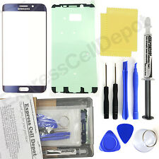 Blue Samsung Galaxy S6 Edge Plus G928 Replacement Front Screen Glass Repair Kit