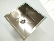 stainless steel TOPMOUNT UNDERMOUNT KITCHEN sink single pantry laundry trough R5