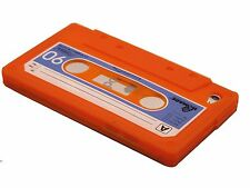 for iPod touch 4th 4g itouch  case cover cassette tape pink orange black red/