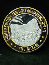 Limited Edition  Silver Casino $10 Gaming Token - The Mirage Las Vegas, NV