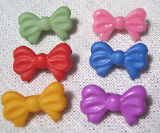 LOT 6 BOUTONS NOEUD PAPILLON Multi-Coloris 18mm - couture scrapbooking carterie