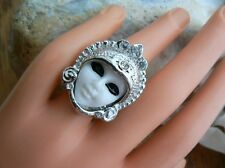 Mask Ring Opera theatre Art Deco Unusual gift for her Quirky Kitsch Girls Gothic