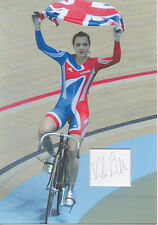 VICTORIA PENDLETON Signed 12x8 Photo Display OLYMPIC GOLD Cycling Champion COA