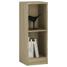 Ferrer Modern Oak Effect Low Narrow Bookcase - Living Room Furniture