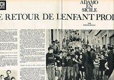 COUPURE DE PRESSE CLIPPING 1965   ADAMO le retour de l'enfant prodige (6 pages)