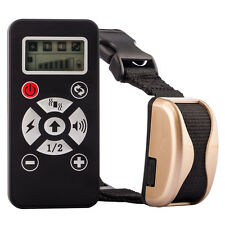 800M LCD Electric Remote Shock Pet Dog Vibration Training Collar Anti Bark Gold