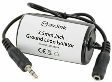 3.5mm Jack Ground Loop Isolator Prevents Unwanted Hum on Audio Equipment