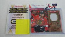 Duncan Keith 2016-17 Tim Hortons J-DK NHL Jersey Relics Game Used 1:1800 R8Z