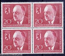 Walther Schreiber, Mayor, Politician, Berlin 1960 MNH Blk 4  -  F21