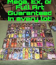 Pokemon TCG : 3 Card Lot ALL RARE GUARANTEED: Ultra Rare, Mega, Ex, Full Art!!