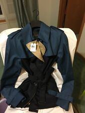 Coach Colorblock Short Trench Coat Midnight Navy Multi F86036 NWT S Or M