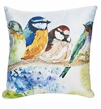 """BEAUTIFUL BLESSINGS Watercolor Birds Small Throw Pillow, 9.5"""" x 9.5"""", by Ganz"""